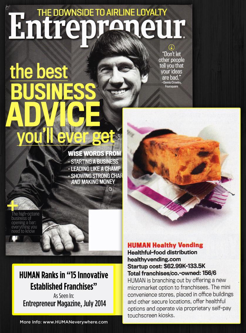 HUMAN Micro Markets Rank in Entrepreneur Magazine